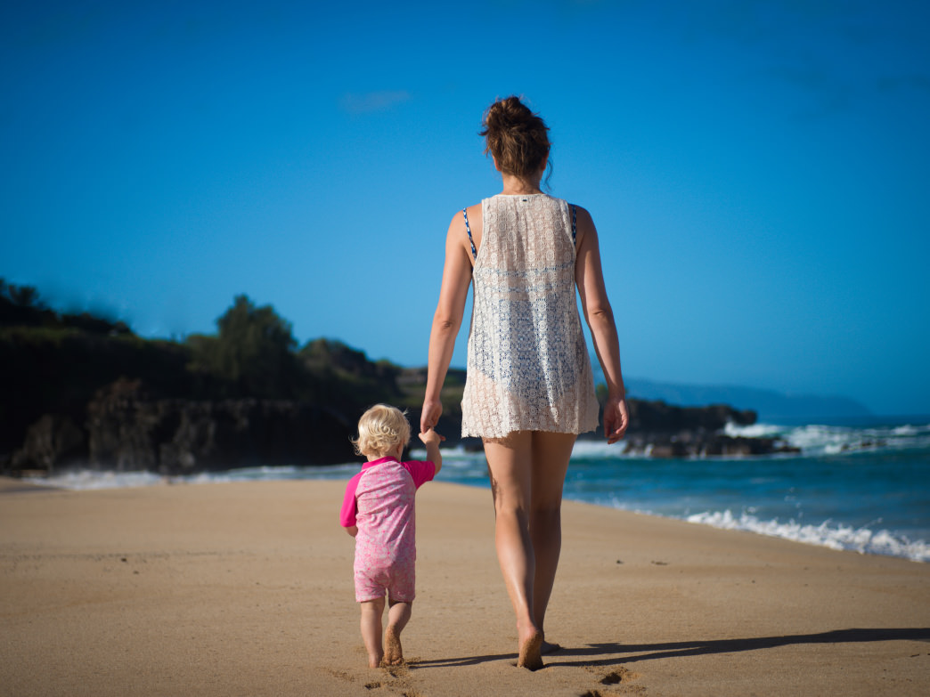It takes some planning and prep to pull off a mini-sabbatical with your family, but the result—like casual beach strolls with your little one—is well worth it.