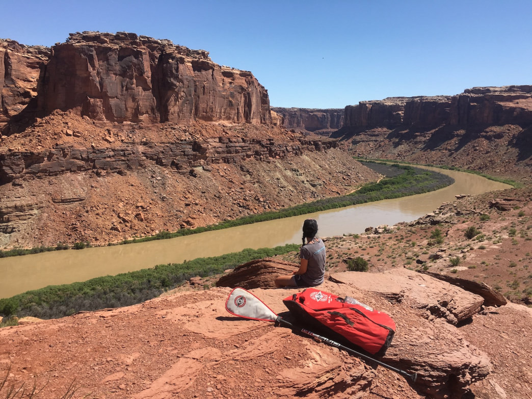 A lightweight inflatable standup paddleboard is key if you want to hike up and over the saddle. We used a BIC SUP.