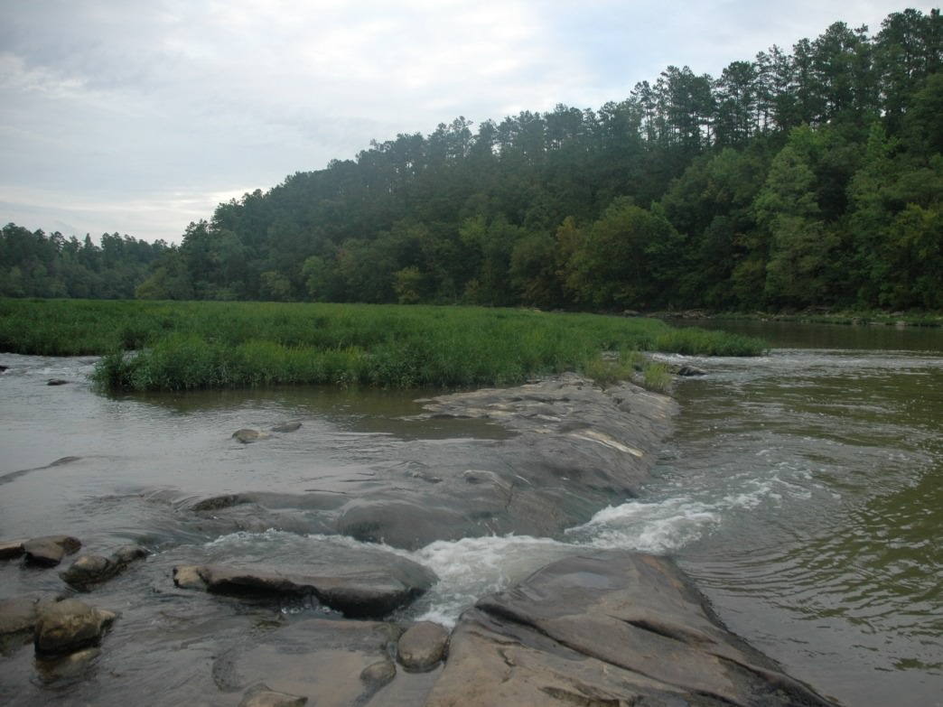 The Cahaba River offers several sections of rapids for paddlers.