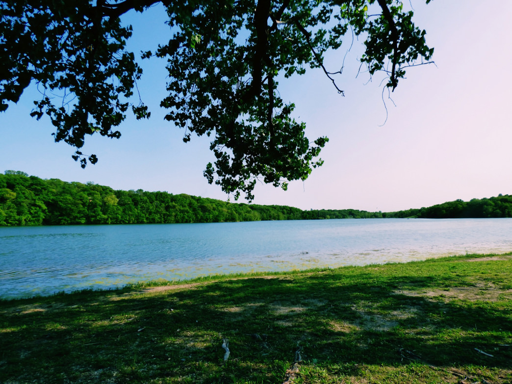 You'll feel hours away from the city with a short drive to Wyandotte County Lake Park.