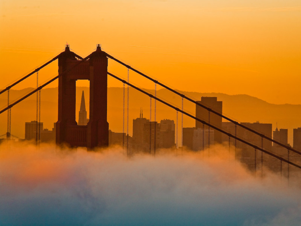 The Golden Gate Bridge is even more beautiful bathed in early morning sun.