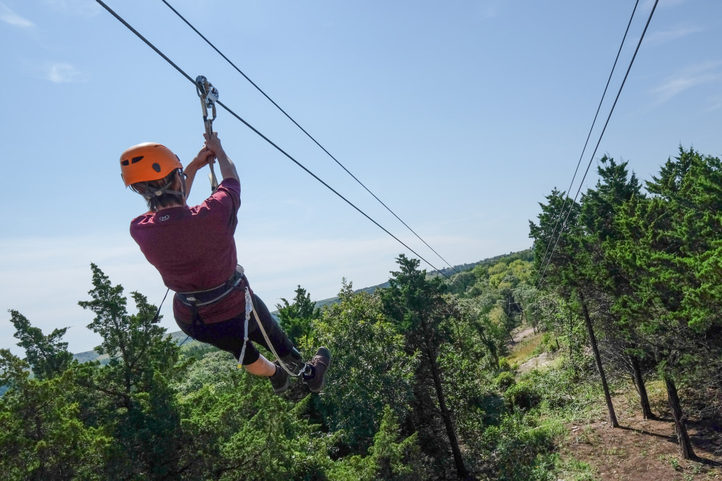 Zipline tours at Wildwood Outdoor Adventure Park is a must-do experience.