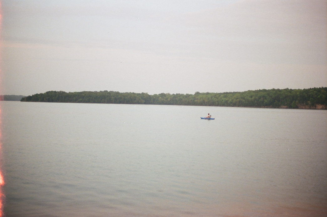 Kayaking in late spring on Percy Priest.