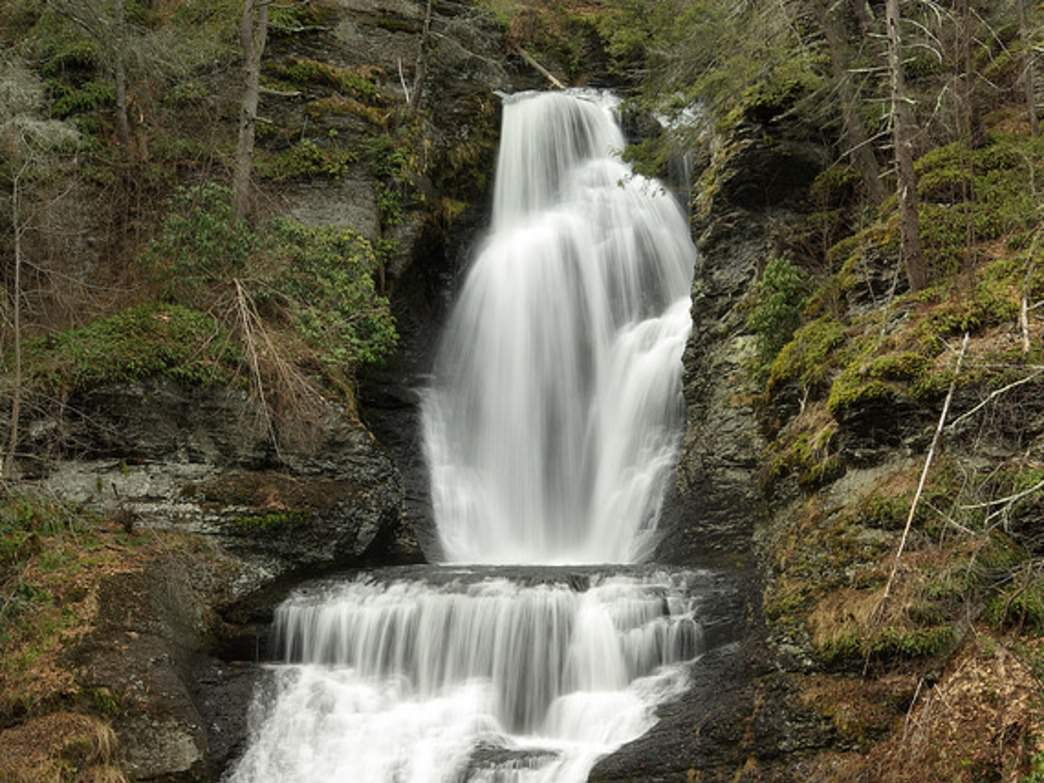 Travel to the Delaware Water Gap National Park to see Dingmans Falls.