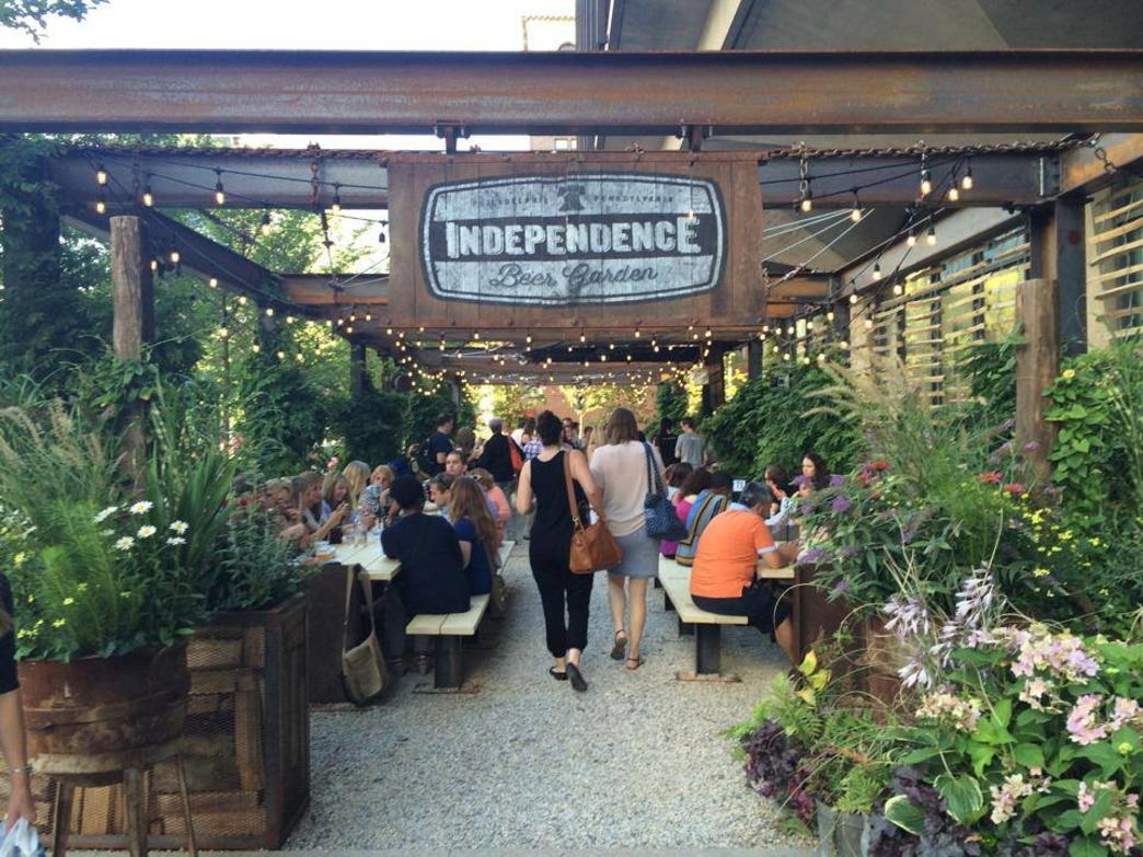 The Independence Beer Garden features games like corn hole, Jenga, and shuffleboard.