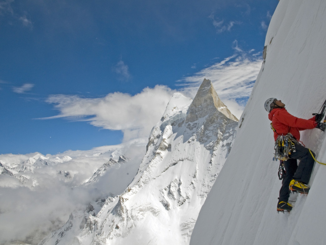 The climbers had to use all kinds of climbing techniques in their quest to reach the summit of Meru.