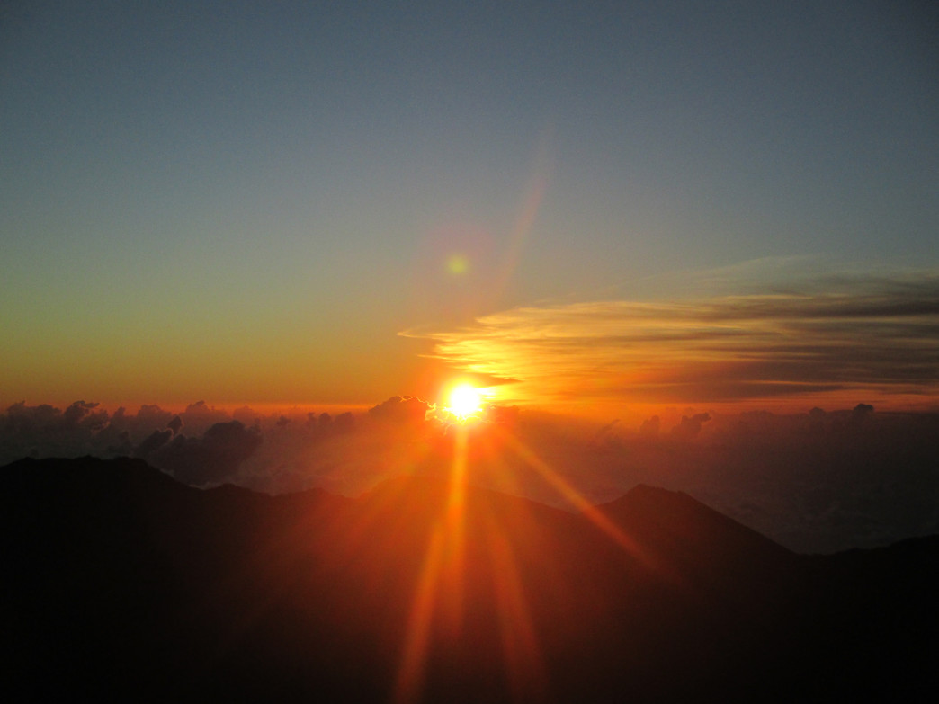 Sunrise from the summit of Haleakalā,