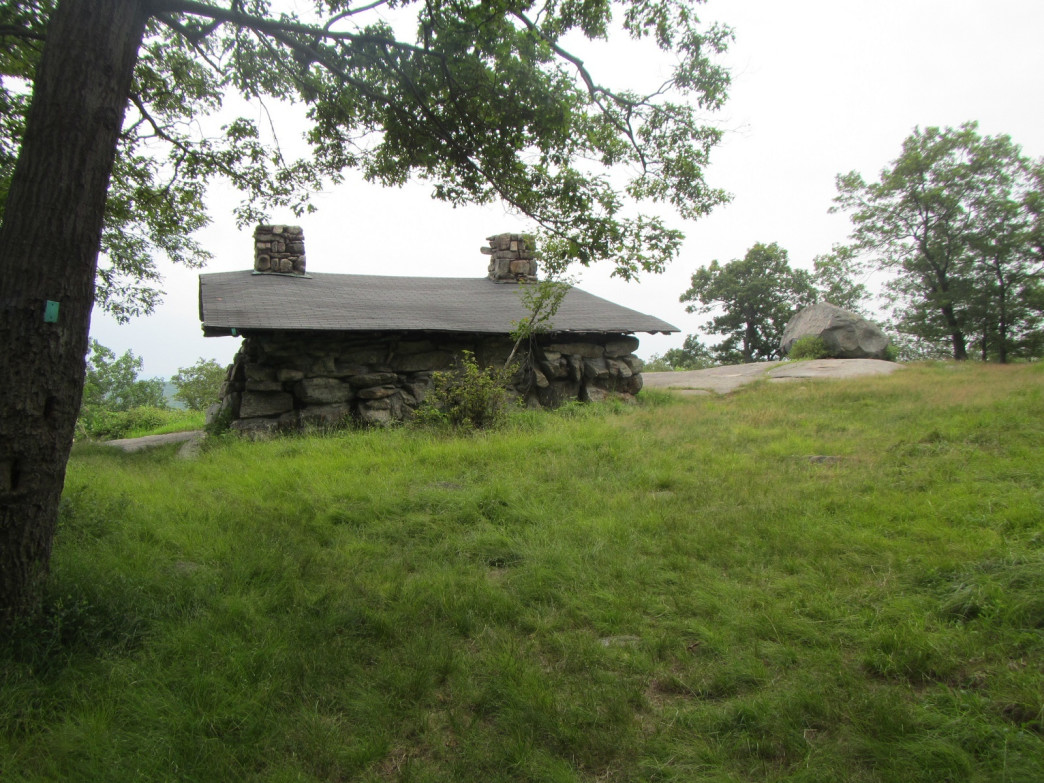 One of the stone lean-tos  in Harriman State Park