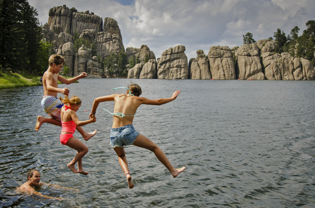 Sylvan Lake is a great place for summer dip.