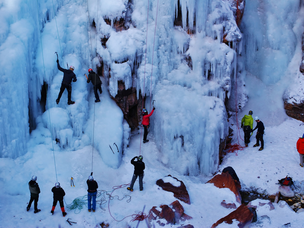 Clinics at the Ouray Ice Festival