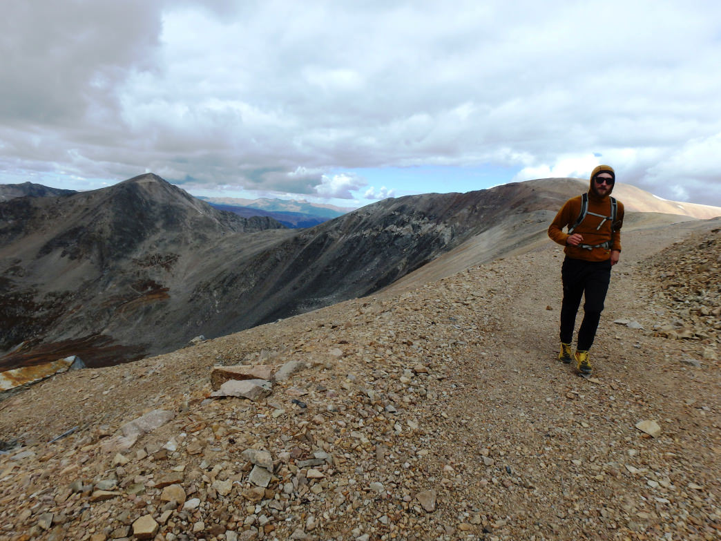 You'll need some help to navigate most of Colorado's Fourteeners, but it doesn't have to be a spendy GPS—this route was planned with the Map My Run iPhone app.