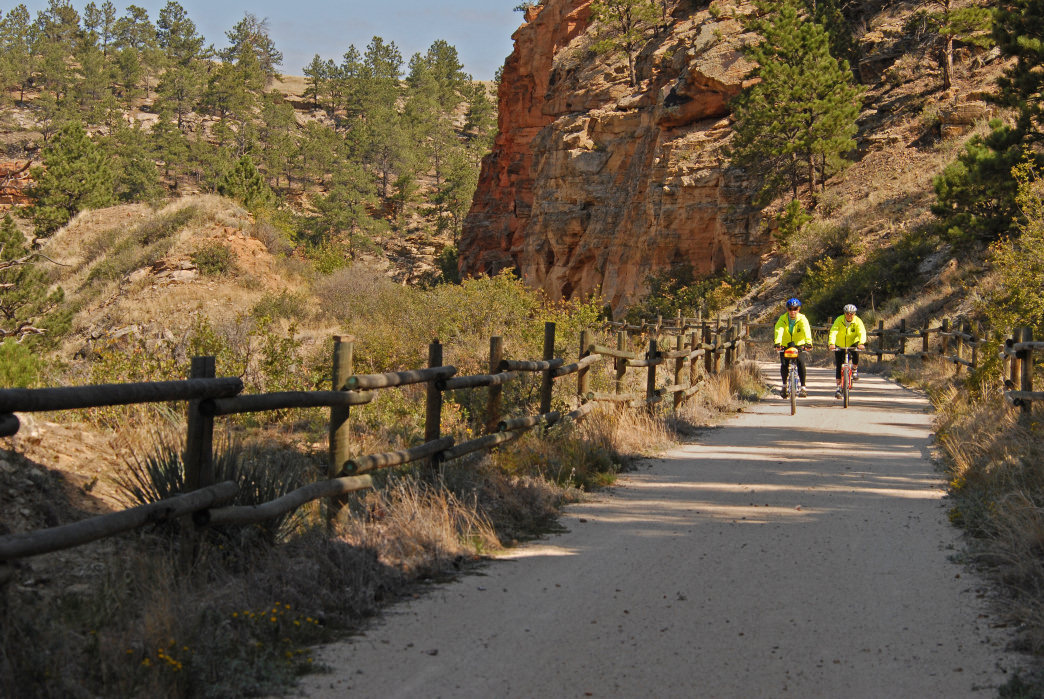 The 109-mile Mickelson Trail was the first rail-to-trail project in South Dakota.