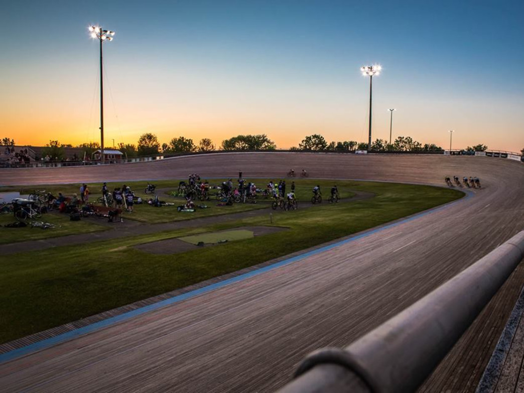 The National Sports Center Velodrome is the only outdoor stripwood velodrome in North America.