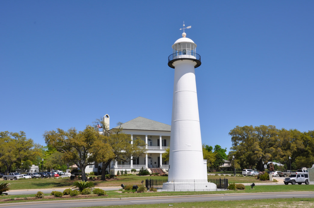 The Biloxi Lighthouse was the first cast-iron lighthouse built in the South.