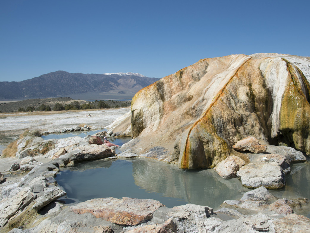 Mineral Formations decorate Travertine Hot Springs in the Eastern Sierra.