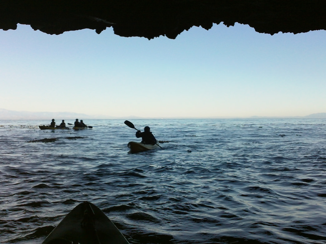 Kayaking the Channel Islands with Santa Barbara Adventure Company.