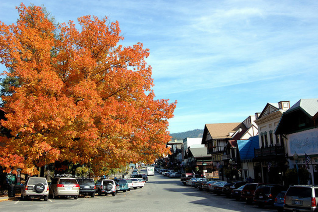 The Bavarian-themed town of Leavenworth holds an annual Autumn Leaf Festival—and the hills that surround it have some great mountain biking trails.
