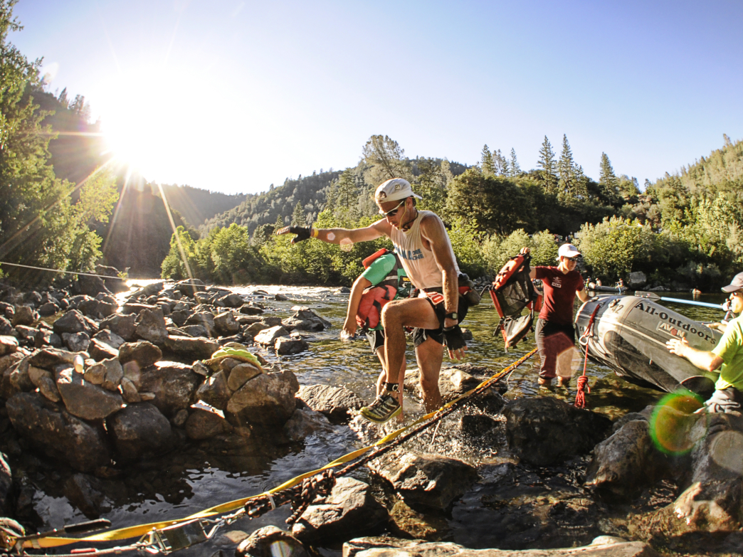 The American River crossing of Western States