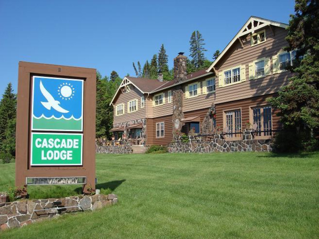 Cascade Lodge on Highway 61 is on the shores of Lake Superior.