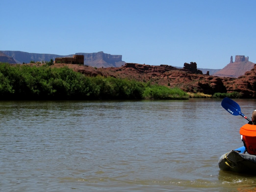 Moab's red rocks make for a beautiful backdrop from the Colorado River.