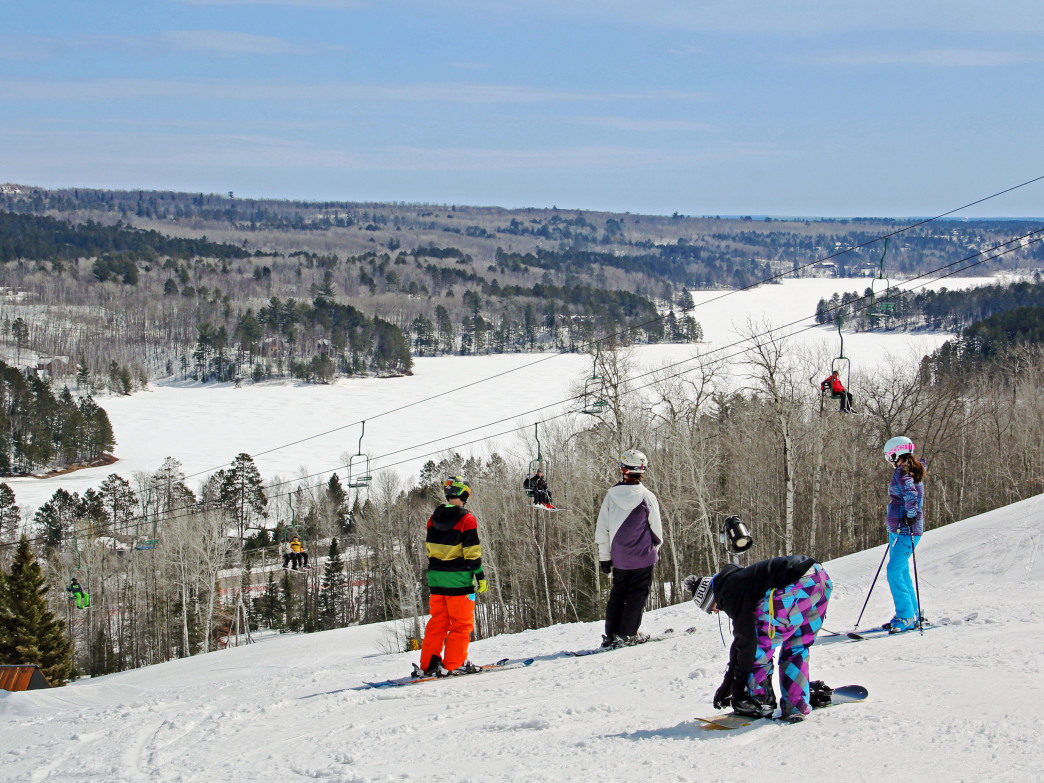 Minnesota may not have mountain like out west, but there are plenty of options for skiing and snowboarding, like here at Giants Ridge.