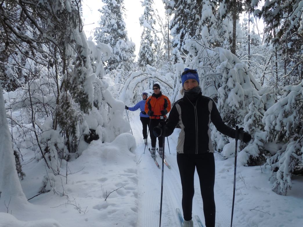 Cross-country skiing draws people from all over the Midwest.