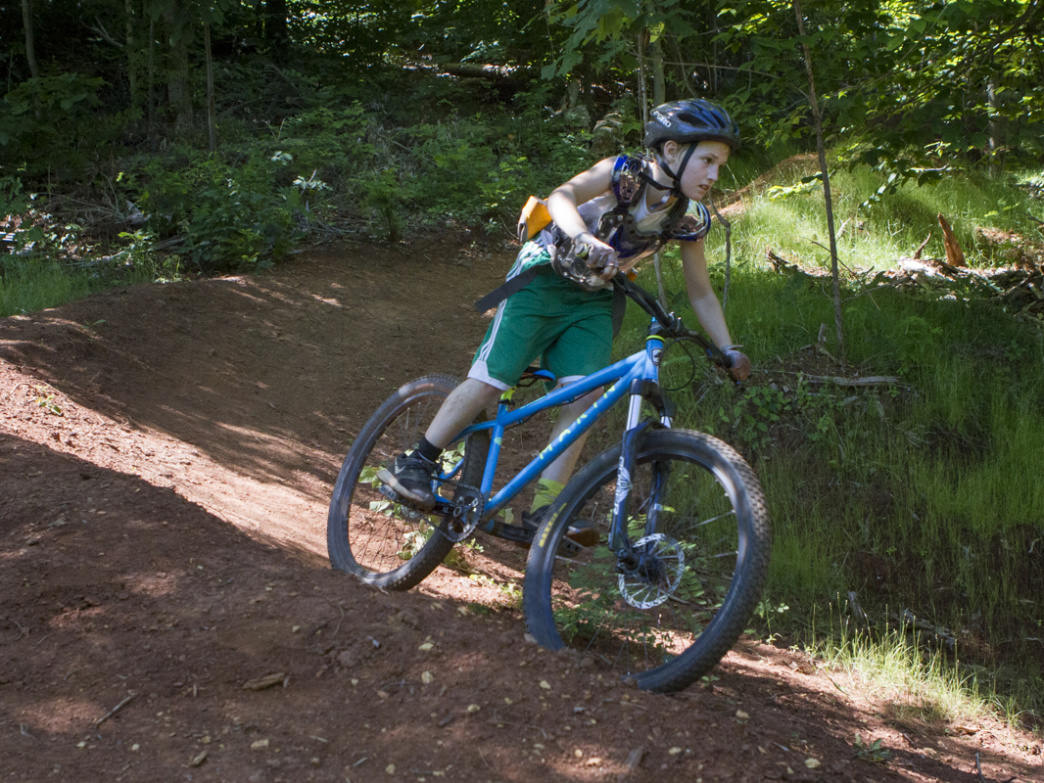The trails at Baker Creek Preserve offer something for riders at any skill level, including beginner, intermediate, and expert downhill trails.