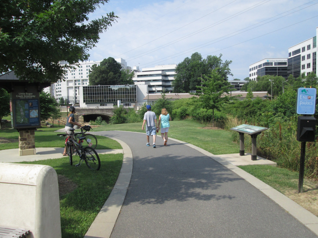 When complete, the Little Sugar Creek Greenway will form the backbone of the city's 26-mile Cross-Charlotte Trail.