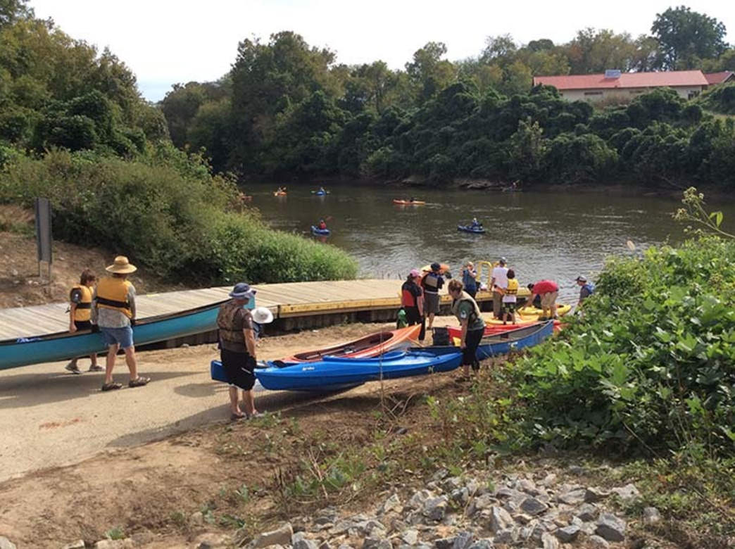 Several launches near town, including the new put-in at Crater Park, create multiple paddling trip options along the Yadkin River Blueway.