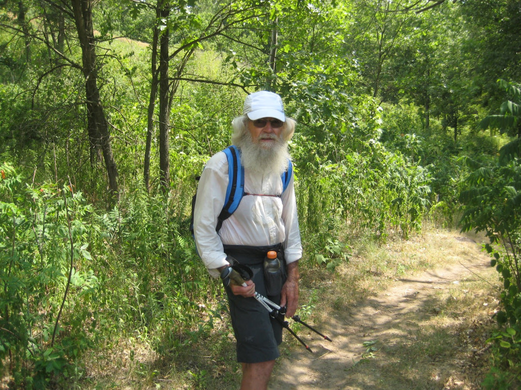 A hiking legend, M.J. Eberhart, better known by his hiking moniker, Nimblewill Nomad.