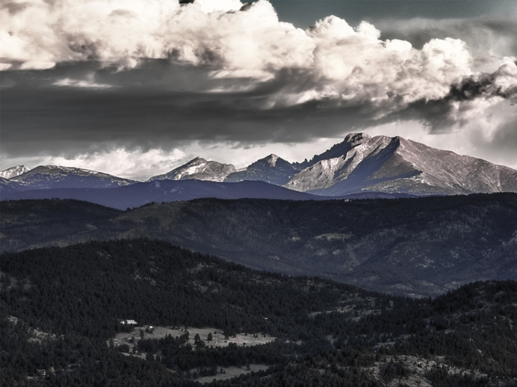 Visible for miles, Longs Peak stands as a sentry over the Front Range.