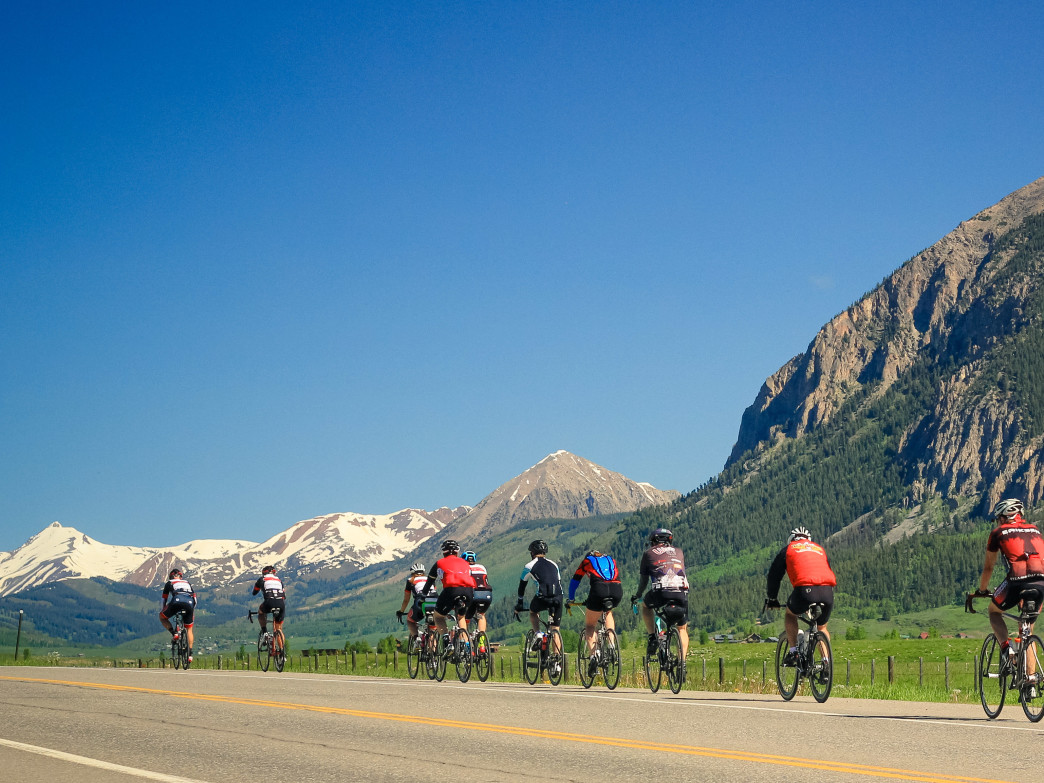 The week-long Ride the Rockies follows a different route each year, always showcasing the Colorado's stunning mountain scenery.