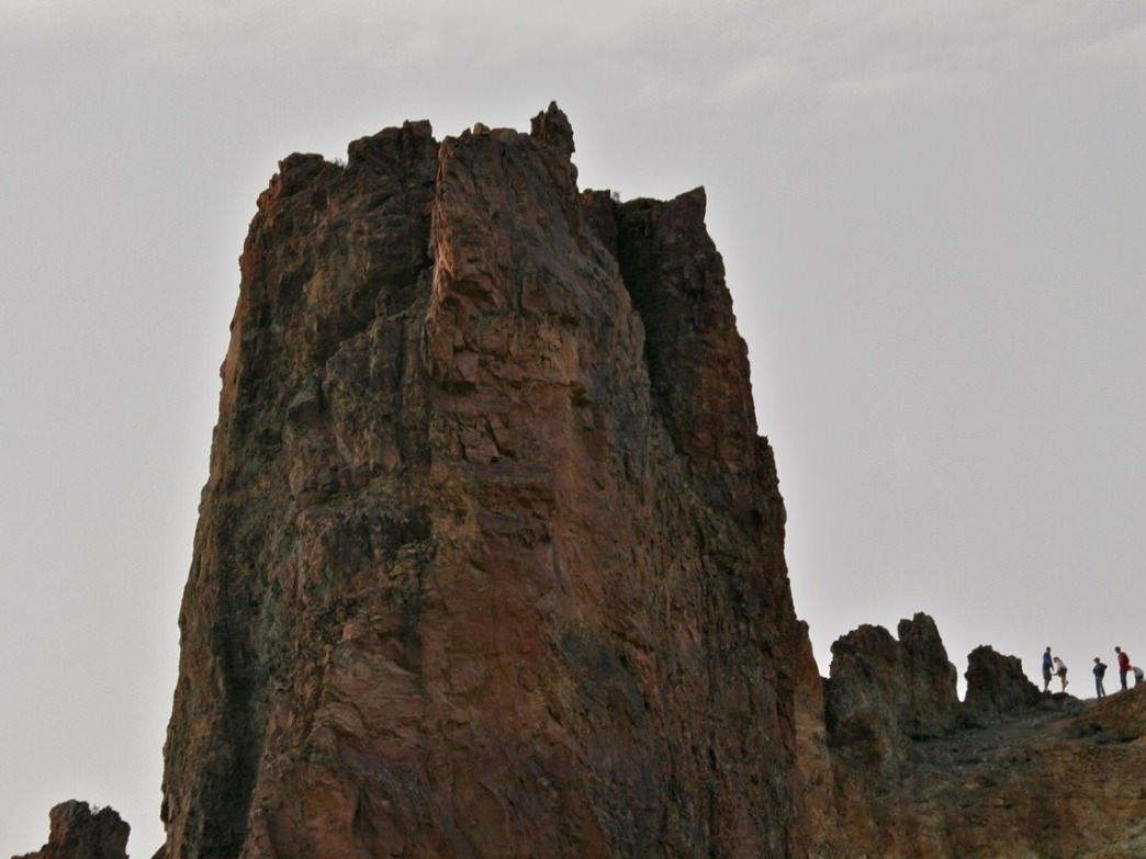 There are all sorts of rocky crags and outcroppings for scrambling in the Owyhee canyon lands.