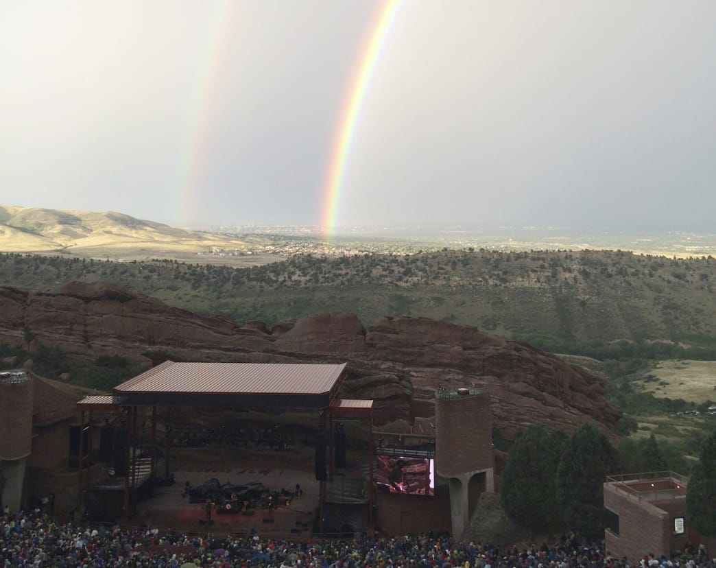Double (or even triple) rainbow moments are common at Red Rocks.