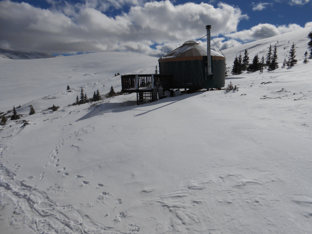 The Leadville Backcountry Yurts are perched at 12,000 feet