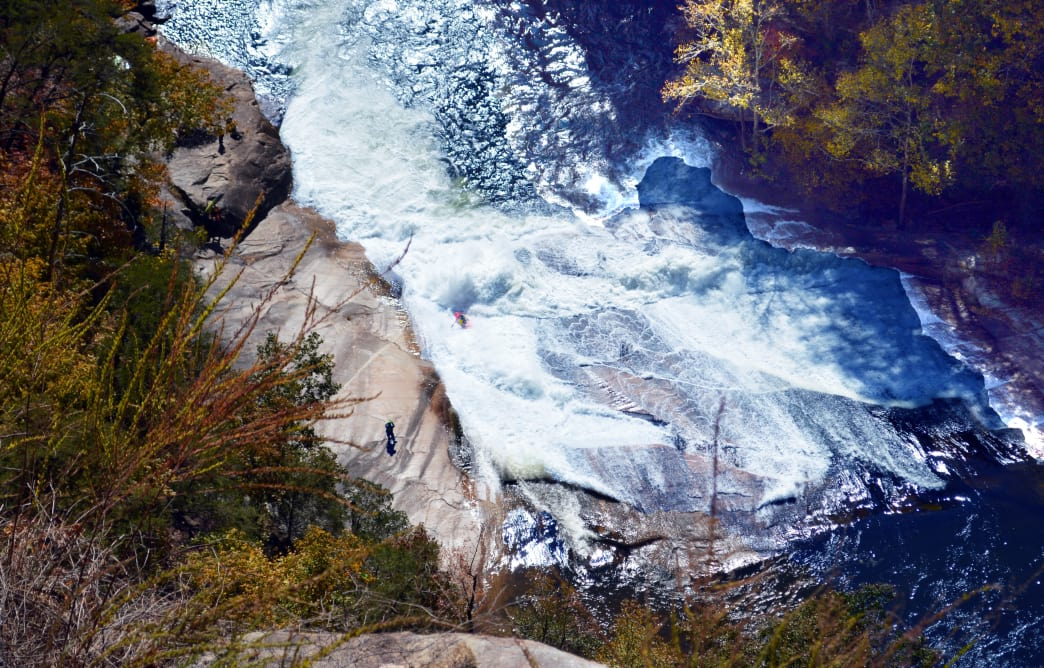 The Sliding Rock Trail at Tallulah Gorge State Park will even have thrill-seekers hearts pumping. Alexa Lampasona