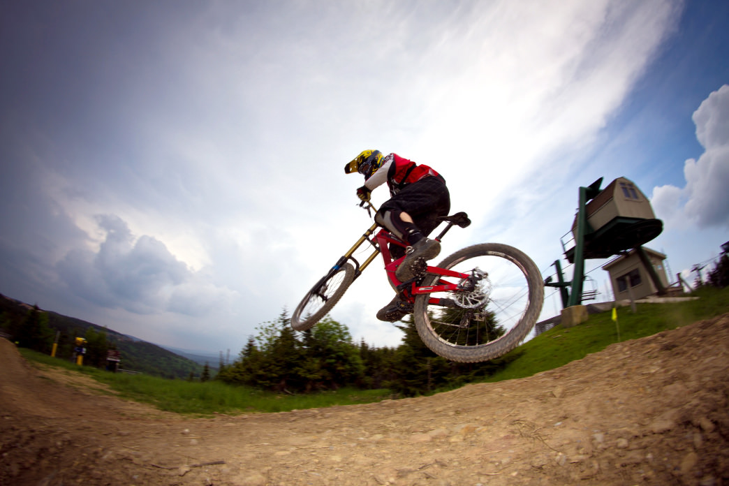 In the summer, Snowshoe draws mountain bikers and other outdoor enthusiasts.