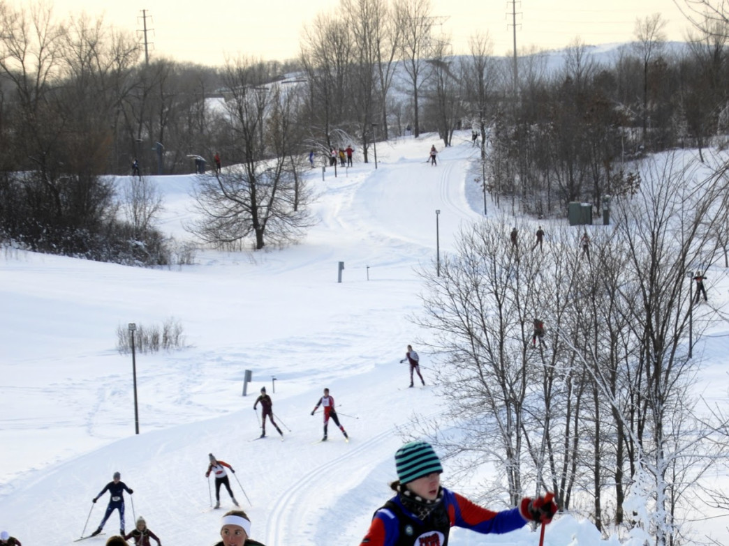 Ski hill at Elm Creek