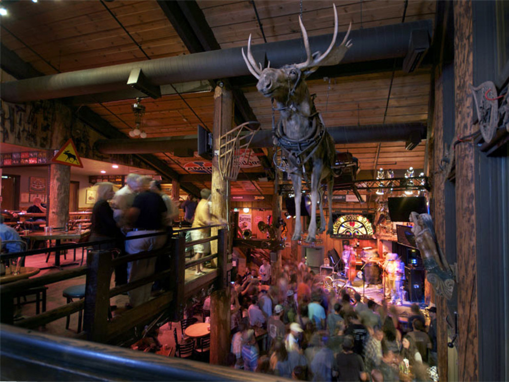 Home to legendary music and antics, the Mangy Moose is located at the base of JHMR in Teton Village.
