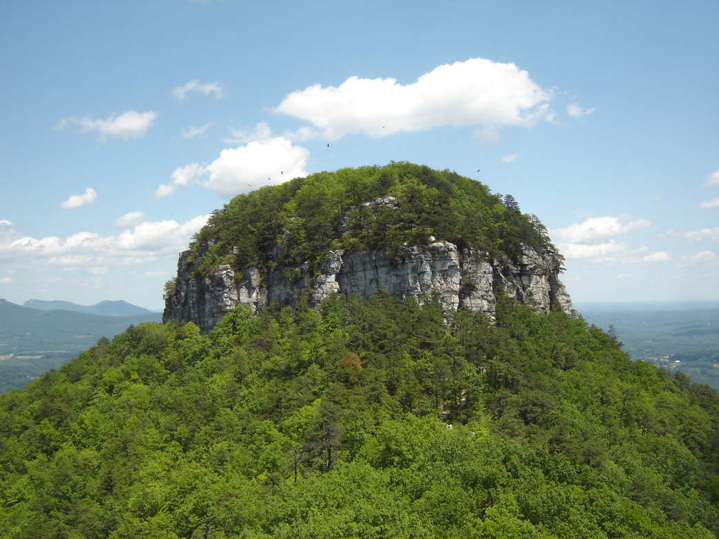 An iconic view at Pilot Mountain State Park.
