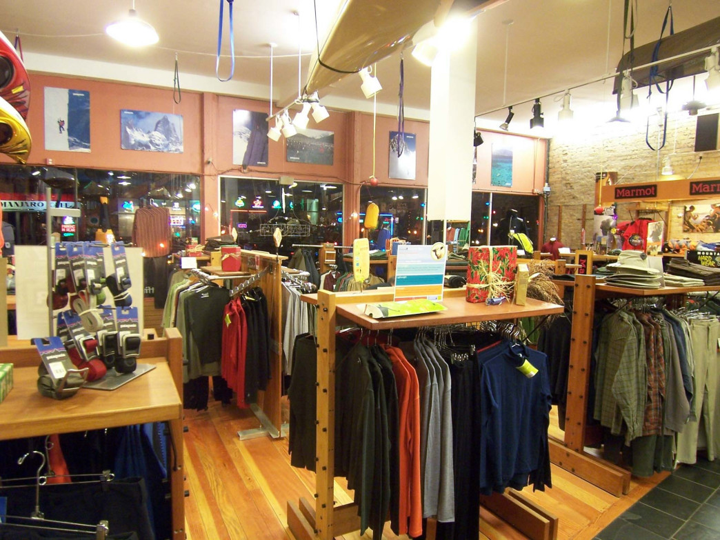 Men's apparel at Midwest Mountaineering
