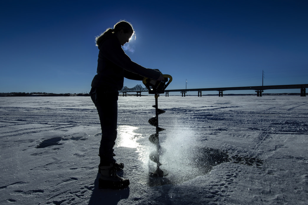 South Dakota hosts several ice fishing tournaments.