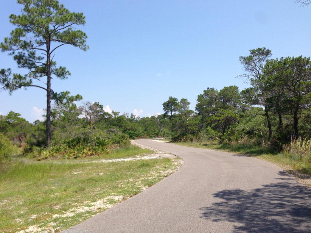 Cyclists can take advantage of the paved trails at Topsail Hill Preserve State Park     Kelsey Bernard
