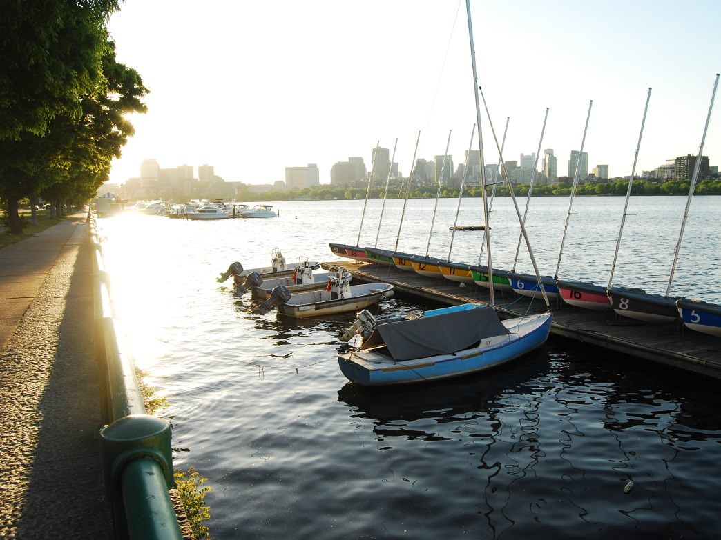 Boats on the Charles River, Boston