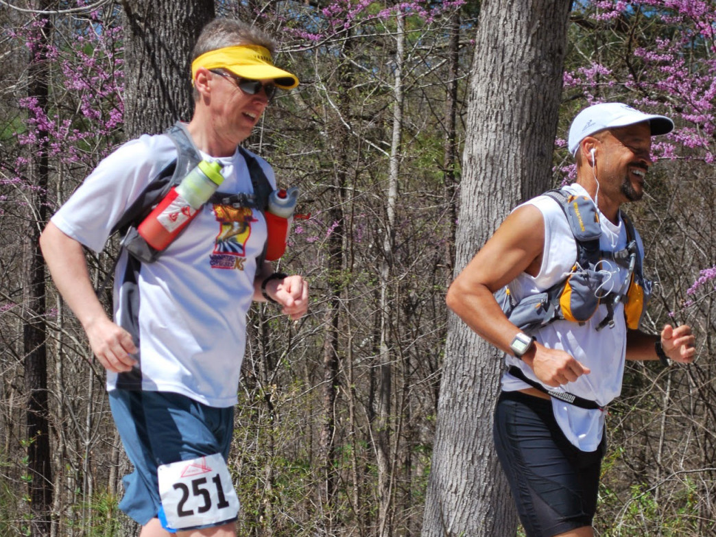 In just 5 years, Ben Smoker went from sedentary to competing in his first 100 mile race. He's racing here (No. 251) at the Umstead 100.
