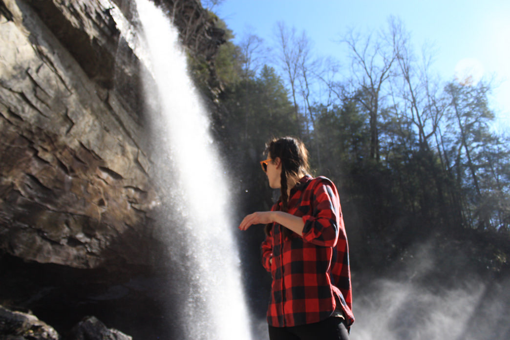Taking in the views of Laurel Falls. Bryson Moore