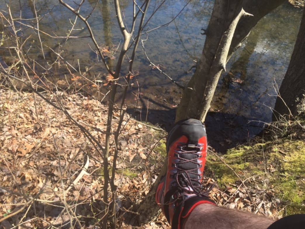 A shoe like the La Sportiva Trango TRK GTX is great for this trail.