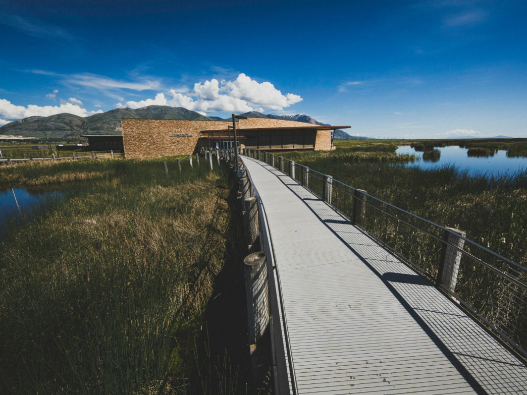The Bear River Bird Refuge visitor center, Brigham City, Utah