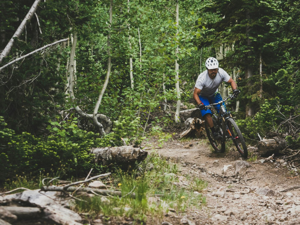 Riding the trails at Brian Head Resort, Utah