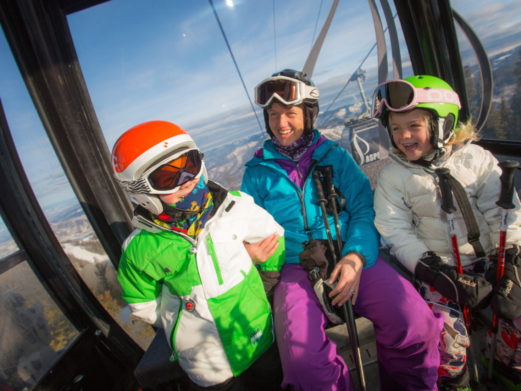 From March 1 on, if you book lodging and rentals through Aspen, kids ski for free. Photo courtesy Aspen Skiing Company
